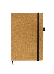Silver Sword Cork Cover Notebook with Pocket and Pen Holder, A5 size