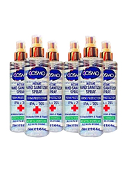 Cosmo Hand Sanitizer Spray, 250ml, 6 Pieces