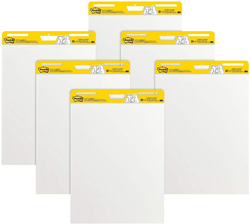 Post-it MMM559VAD6PK Super Sticky Easel Pad, White