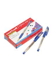 Uniball 12-Piece Signo DX Fine Waterproof Gel Pen Set, 0.7mm, UM-151, Blue