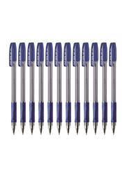 Pilot 12-Piece Supergrip Roller Ball Point Pen, 1.0mm Set, BPS-GP, Blue