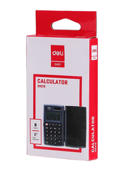 Deli E39219 Desk Top 8 Digit Pocket Calculator, Black