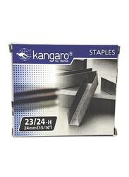 Kangaro Staples 23/24H, 1000 Pieces, Silver