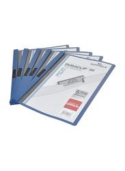 Durable A4 Size Plastic Duraclip File, DUPG2200-07, 25 Piece, Dark Blue
