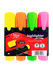 Deluxe Amt 4-Piece Highlighter Set, Multicolor