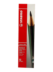 Stabilo 12-Piece Othello 2988 HB Rubber Tipped Pencils Set, Black