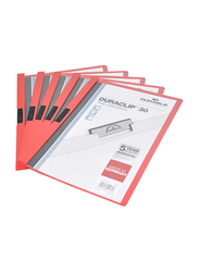 Durable Duraclip DUPG2200-03 File, 25-Piece, A4 Size, Red