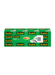 Scotch Brand Magic Tape with Dispenser, Writeable, Matte Finish, Engineered for Office and Home Use, 16 Rolls, Matte Clear