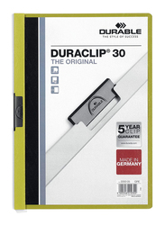 Durable DUPG2200-05 Duraclip File, A4 Size, Green