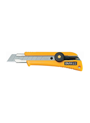 Olfa L-2 Heavy Duty Cutter with Rubber Grip, Black/Yellow