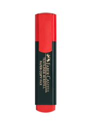 Faber-Castell 10-Piece Textliner Classic Highlighter, Red