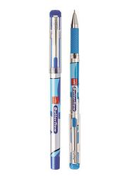 Cello 12-Piece Butterflow Ballpoint Pen, Blue