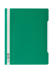 Matin Durable Clear View Plastic File Folder with Index Strip Extra Wide, A4 Size, 50 Pieces, 2570, Green