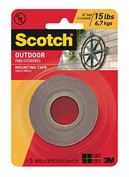 Scotch Outdoor Mounting Tape, 1 x 60 Inch, Brown