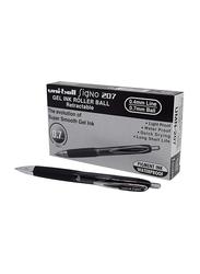 Uniball 12-Piece Signo 207 Gel Retractable Fine Rollerball Pen Set, 0.7mm, 704500, Black