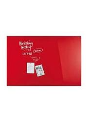 Quick Office Magnetoplan Magnetic Design Glassboard, 150 x 100cm, Intense Red