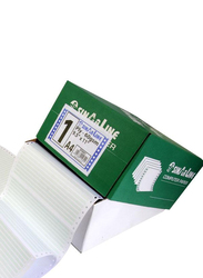 Sinarline NCR Computer Paper, 24.1 x 27.9cm, 3 Ply, Box of 500 Sets, A4 Size, Plain White