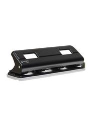 Kangaro HDP2040 Four Hole Paper Puncher Device, Black