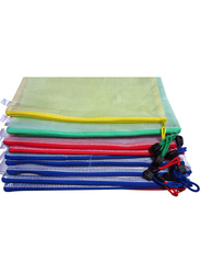 Lebeila Zipper File Folder Bags, A4 Size, 12 Pieces, Multicolour