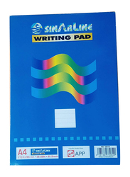 Sinarline Ruled Writing Pads, 80 Sheets, Pack of 4, A4 Size, Blue
