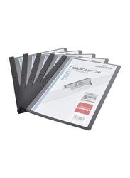 Durable Duraclip DUPG2200-01 File, 25-Piece, A4 Size, Black