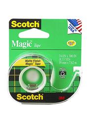 Scotch Magic Tape, 3/4 x 300 Inch, 3 Pieces, 3105, Clear