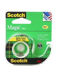 Scotch Magic Tape, 3/4 x 300 Inch, 3 Pieces, 3105, Clear
