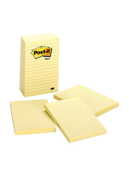 Post-It Notes Sticky Notes, 10.6 x 15.24cm, 100 Sheets, Canary Yellow