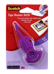 Scotch 0.33 Inch by 403 Inch Tape Runner Refill, 017R-4, Purple