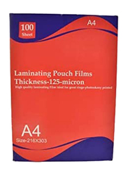 Deluxe AMT Lamination Pouch Film, A4 Size 125 Micron, Clear