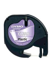 Dymo LetraTag Plastic Tape, 12mm x 4m, 12267, Purple