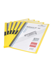 Durable A4 Size Plastic Duraclip File, DUPG2200-04, 25 Piece, Yellow