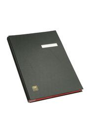 Elba 41403 Signature Book, 20 Compartments, PVC Cover, Black