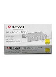 Rexel No.56 Staples, 1000 Pieces, Silver
