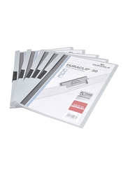 Durable Duraclip 30 Plastic File, A4 Size, 25 Pieces, DUPG2200-10, Grey