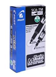 Pilot 12-Piece Twin Marker Set, Black