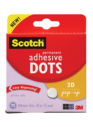 Scotch Permanent Adhesive Dots, Multicolor