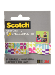Scotch C214 P13 Expressions Tape, 19mm x 762m, Multicolor