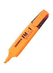Zebra 12-Piece FM-1 Highlighter Pen Set, Orange
