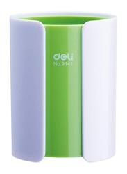 Deli PS Student/Office Pen Holder, Green/White