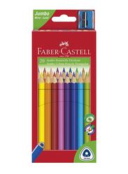Faber-Castell 20-Piece Junior Grip Triangular Color Pencils Set, Multicolor