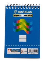Sinarline SP03511 Spiral Memo, A7 Size, 50 Sheets, 50 Pieces, Blue