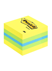 3M Post-it Mini Cube Sticky Notes, 51mm Square, 400 Sheets, Multicolor