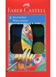 Faber-Castell 8 Deckfarben Watercolors, Multicolor
