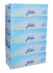 Masafi White Facial Tissue Boxes, 5 Boxes