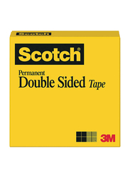 Scotch 3M Permanent Double Sided Office Tape, 3/4 Inch x 36 Yards, 665 DLT, Yellow