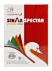Sinar Spectra Premium Color Copy Paper, A4 Size, Multicolor