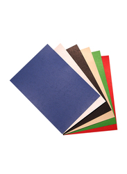 Unistar Embossed 230GSM Binding Sheets, 100 Pieces, A4 Size, Multicolor
