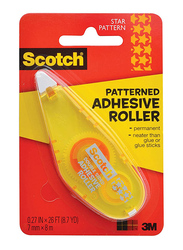 Scotch 6061-STR-EDU Stars Patterned Adhesive Roller, Yellow