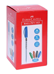 Faber-Castell 50-Piece Ball Pen Set, 0.7mm, 1423, Black